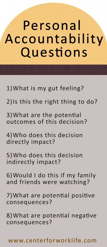 Personal accountability questions to as when faced with a difficult decision... #accountability #decision #confused: