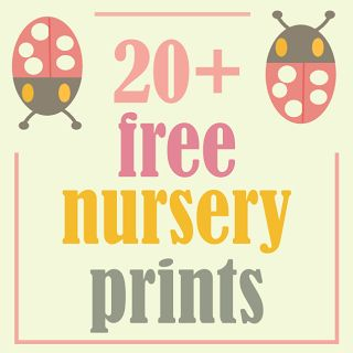 Over 20 FREE nursery printables – wall decorations for kids rooms and toddler rooms