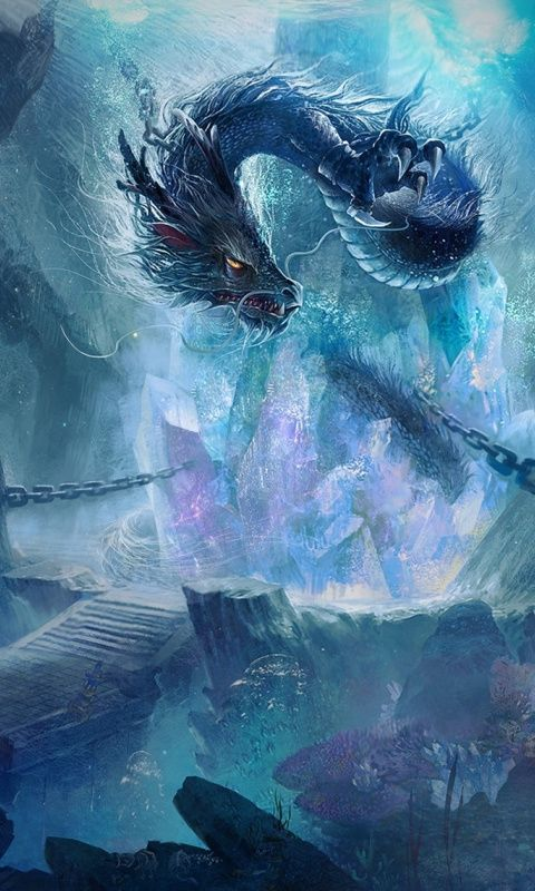 Chained Dragon Fantasy Art 480x800 Wallpaper Fantasy Art Landscapes Dragon Pictures Chinese Dragon Art