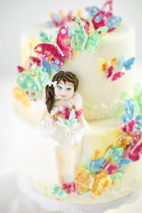 Kessy's Pink Sugar: Miss Butterfly Cake - menschliche Figuren herstellen - cake and bake Ticketverlosung