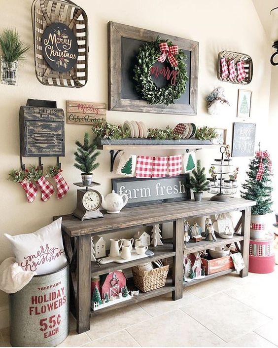 Pretty Christmas Home Decor