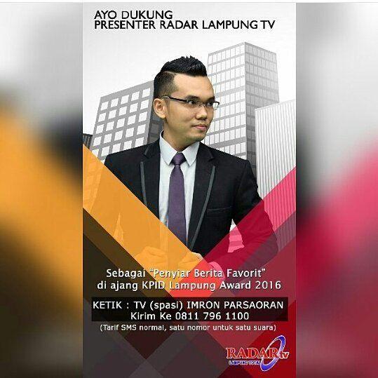 Ayo Dukung Presenter Radar Lampung Tv Imronparsaoran Untuk Menjadi Presenter Tv Terfavorit