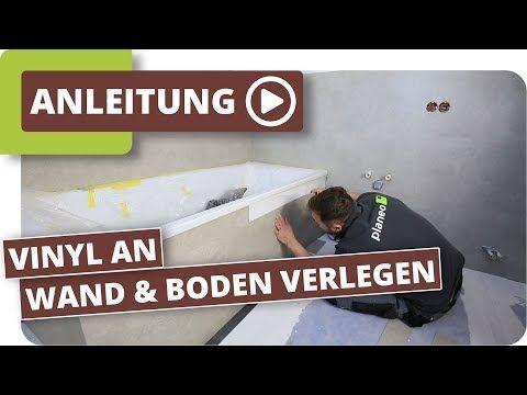 Bad Abdichten Vinyl An Wand Und Boden Verlegen Youtube Vinyl Wandfliesen Vinyl Vinyl Fliesen