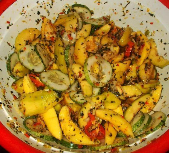 Mango chow w cucumber etc Trini | Trinidadian Food ...