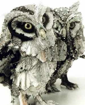 Beaded Owls     Photography by Susan Horth
