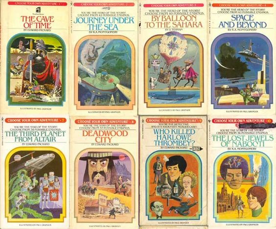 Some of the classic Choose Your Own Adventure Books. These are the books that really got me into reading and helped inspire this project.
