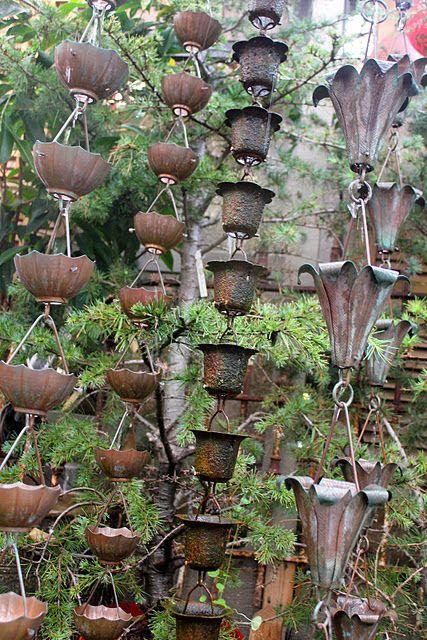 Love copper rain chains: