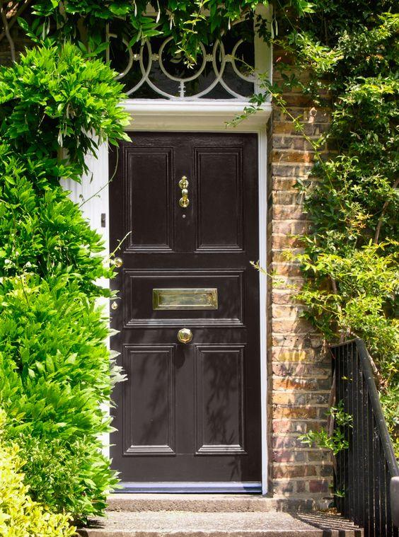 Ten best front door colours for your house black front for 10 best front door colors