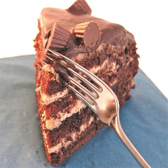 ... Chocolate cake filled with layers of fudge and whipped peanut butter