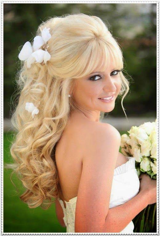 Brautfrisuren lange blonde haare