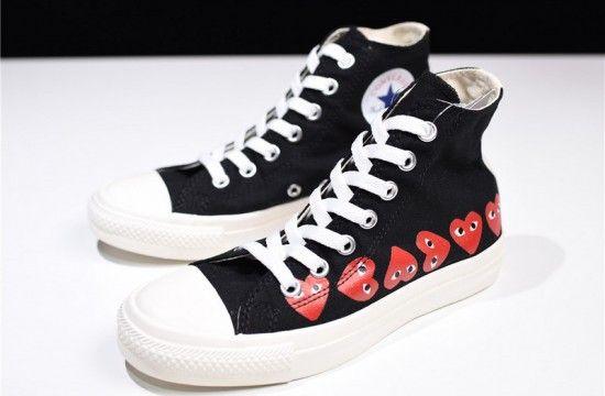 Converse Chuck Taylor All Star 70s Hi Comme Des Garcons Play Multi Heart Black Converse Chuck Taylor Converse Sneakers