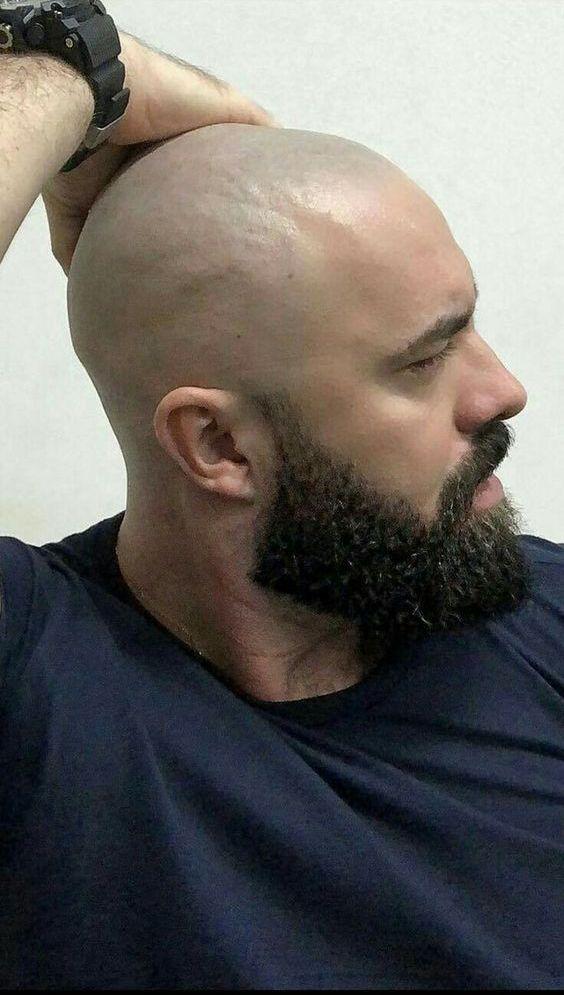 God S Profile Bald Men With Beards Bald With Beard Shaved Head With Beard