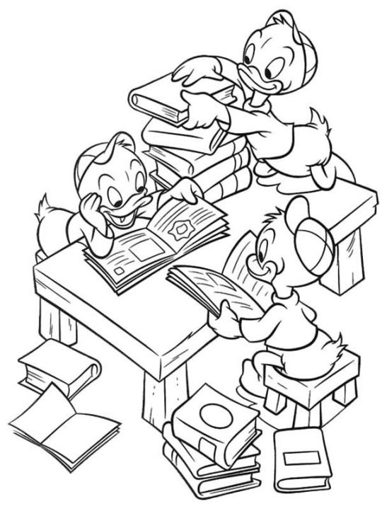 Ducktales Coloring Page Coloring Pages Duck Tales Free Png