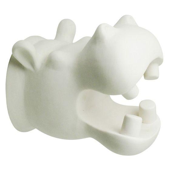 Patère Hippopotame - Blanc