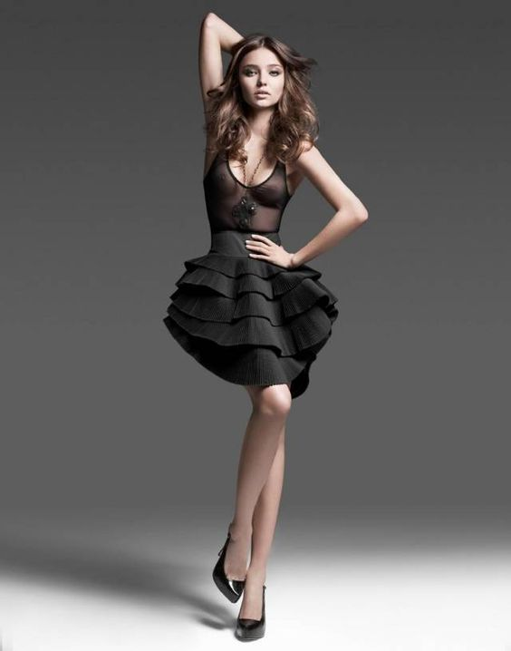 Miranda Kerr. Dress. Black.