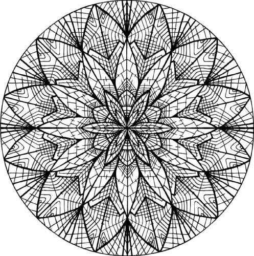 Mandala Patron Colorier MANDALA Pinterest Coloration