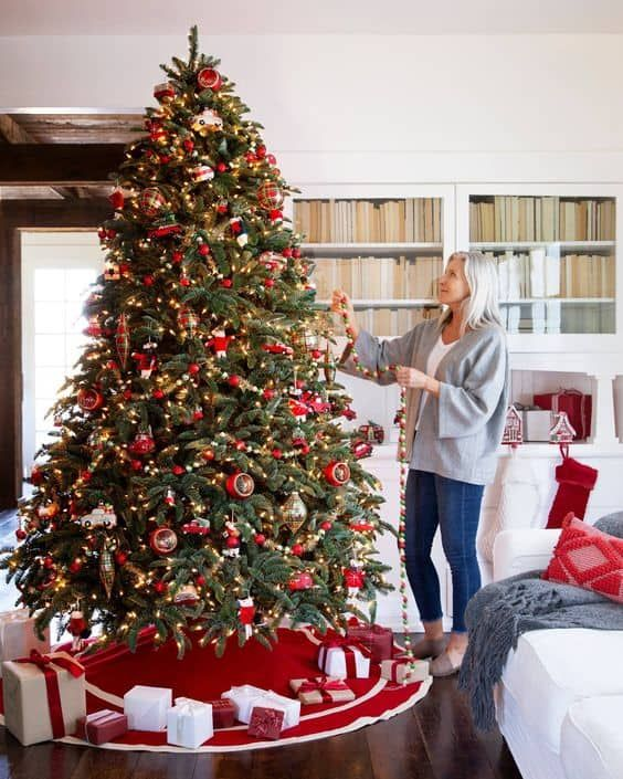 100 Christmas Tree Ideas For Your Home This Holiday Season Home Trends Magazine In 2020 Christmas Tree Skirt Fir Christmas Tree Noble Fir Christmas Tree