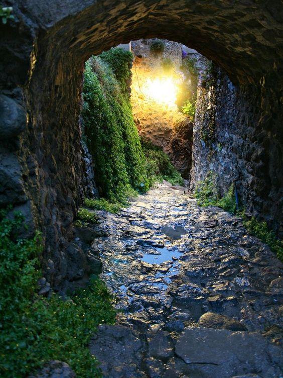 Light through the tunnel.