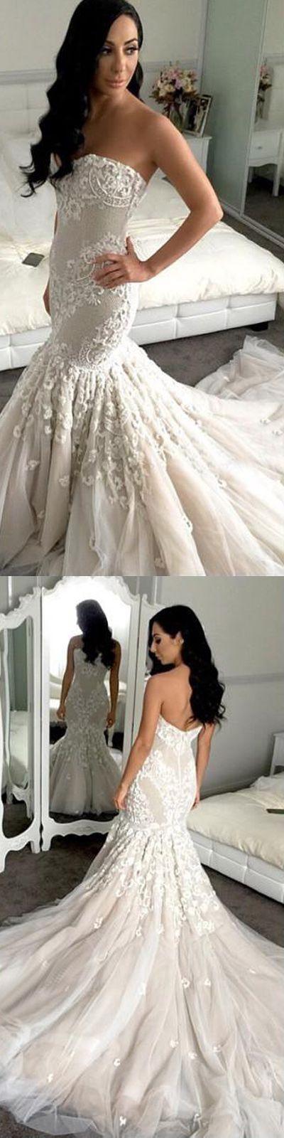 #mermaid wedding gown #long wedding dresses #mermaid bridal gown #elegant wedding dresses