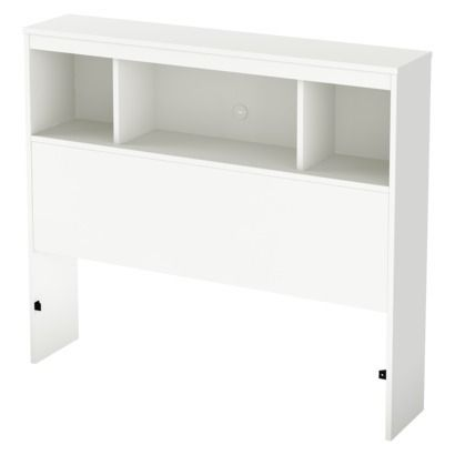 South Shore Litchi Bookcase Kids Headboard - Twin  Also this... for the back of her bed.
