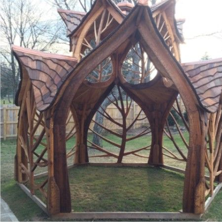 She Was Impressed When A Friend Said He Was Building A Gazebo And in Total Awe When it Was Finished