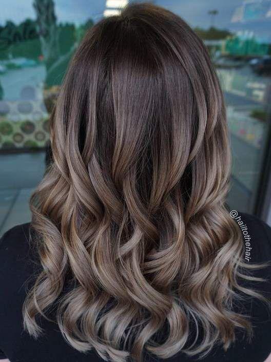 13 Hair Color Ideas For Brunettes Brunette Hair Color Mushroom Hair Brown Hair Balayage