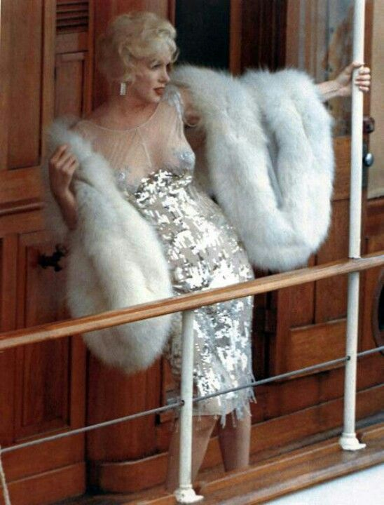 """Marilyn in """"Some Like it Hot"""". Gown by Orry Kelly."""