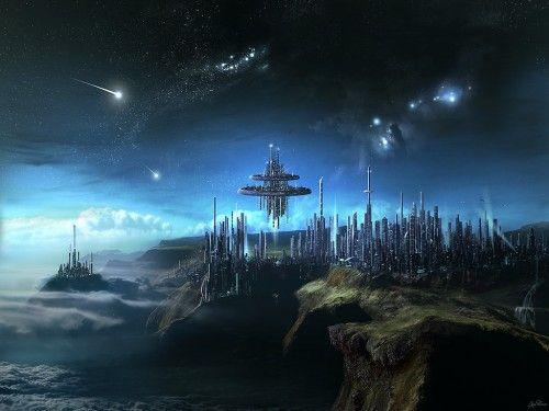 Floating Fantasy City:
