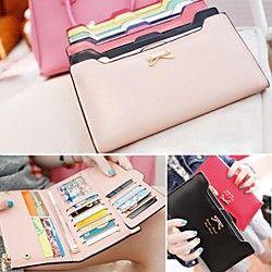 Women's Korean Version of Sweet And Cute Bow Multi- Card Handbag Long Wallet | LightInTheBox