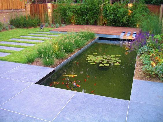 4 styles de bassins copier dans votre jardin gardens decks and design for Bassin de jardin moderne