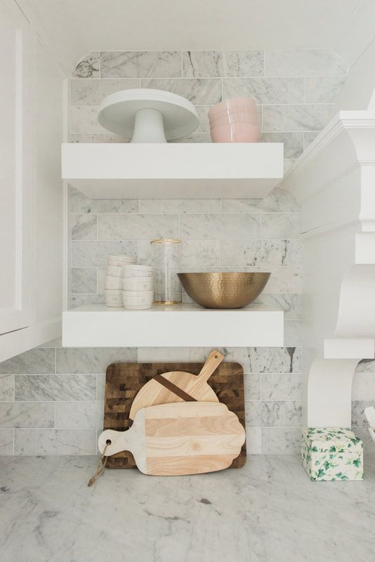 Floating Kitchen Shelves Midwestblonde Com With Images