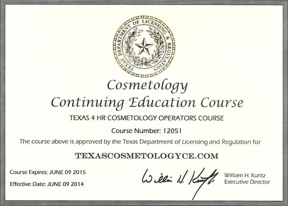 middle term goal   receive my cosmetology license