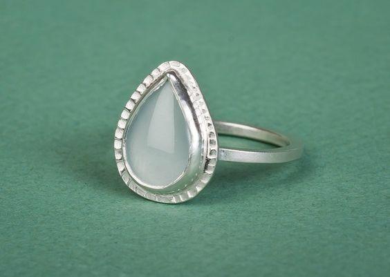 Aquamarine Pear Ring- my birthstone.  I want this!!!!!