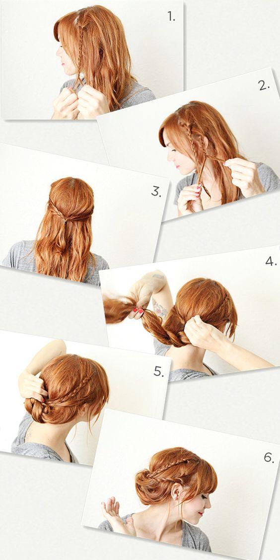 Super lange Haare in Orange Ombre mit Clip in Haarverlängerung für den Winter