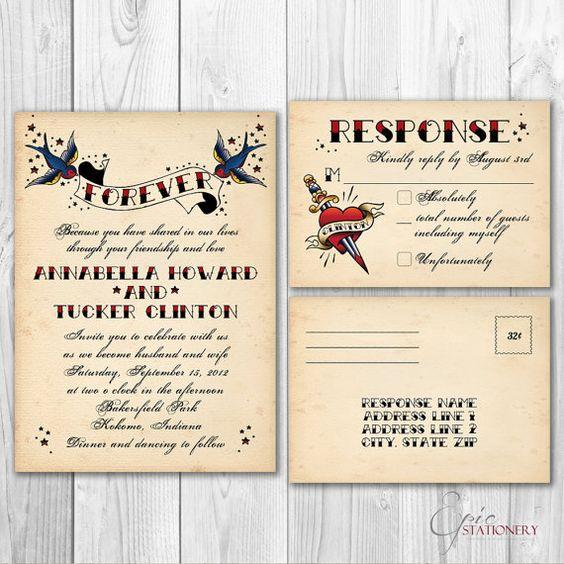 Rockabilly Wedding Invitation Templates is best invitations template