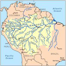 Amazon river basin.