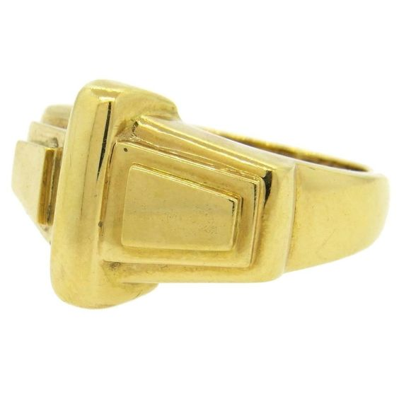 Classic David Webb Gold Ring
