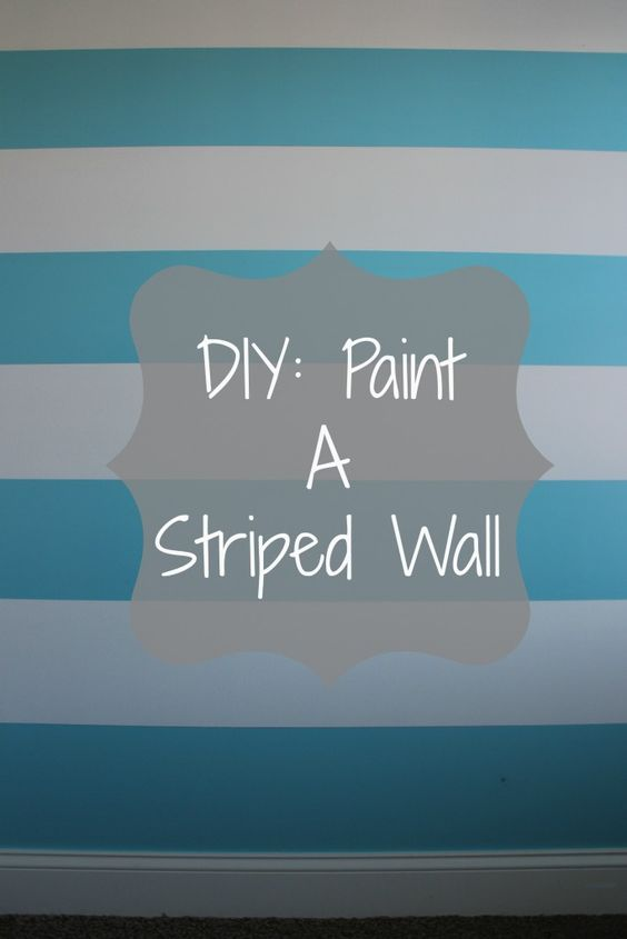 Paint stripes diy painting and how to paint on pinterest for Painting stripes on walls in kids room