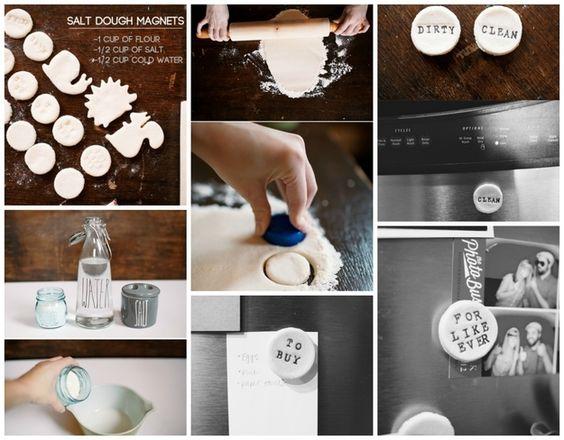 Imãs feitos com massinha salgada | 50 objetos que você mesmo pode fazer para organizar toda a sua vida