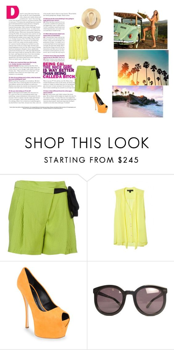 """""""Summer is here."""" by prettygrace ❤ liked on Polyvore featuring Matthew Williamson, Elizabeth and James, Giuseppe Zanotti, Karen Walker and Denim & Supply by Ralph Lauren"""
