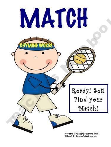 Match Game-Rhyming Words ~ free download   Kindergarten - Reading ...