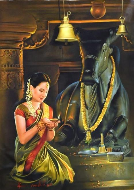 """Nandi pojaa"" important sacred ritual in #hinduism, in temple of lord #shiva:"