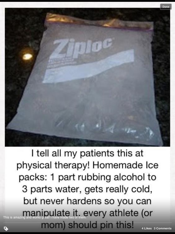 Homemade Ice Pack - this is awesome!  I tried it out today and it works great!