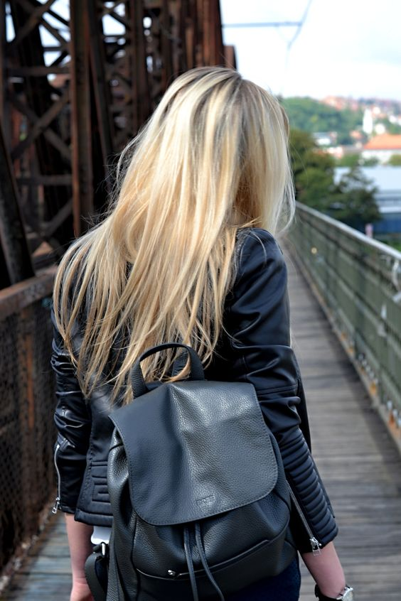 business rucksack damen leder schwarz