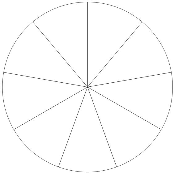 how to divide a circle into 7 equal parts - Google Search - pie chart templates