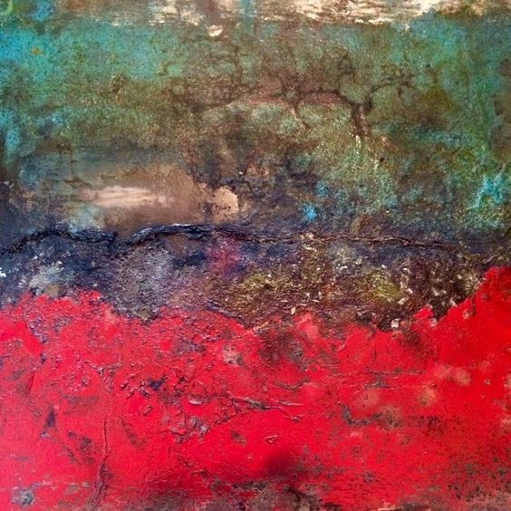 Rivington Pike now available from #georgethortonart #gallery samuelpeacock.com #sampeacock #oil #copper #sugar #coffee #steel #buyart #collector #landscape #abstract #abstraction #artist #art #midlands #red #interiordesign #designer