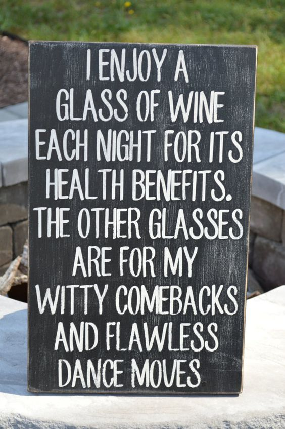 "Funny wine sign.  11.25"" x 18"" Great kitchen sign.  Wine Lovers will love this sign. Can do custom signs--any color, any saying, any size! on Etsy, $50.00"