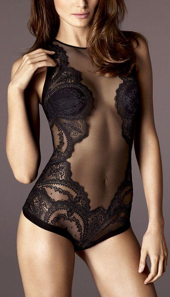 Lace bodysuit: