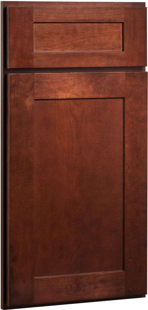 The Dayton Cherry Russet shaker inspired recessed panel doors and drawer  fronts are reminiscent of true