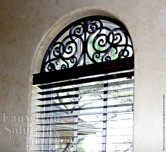 Arched Windows Window Treatments And Wrought Iron On